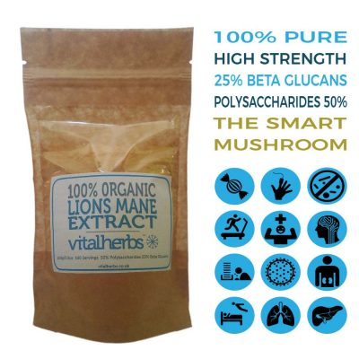 organic lions mane extract powder